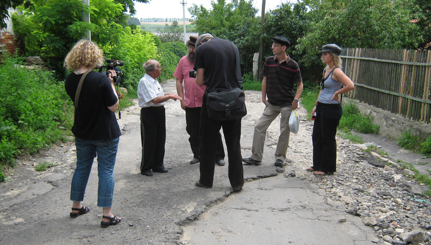 Faculty and Graduate Students conduct research in a small town in Ukraine as part of the Archives of Historical and Ethnographic Yiddish Memories in the summer of 2010.